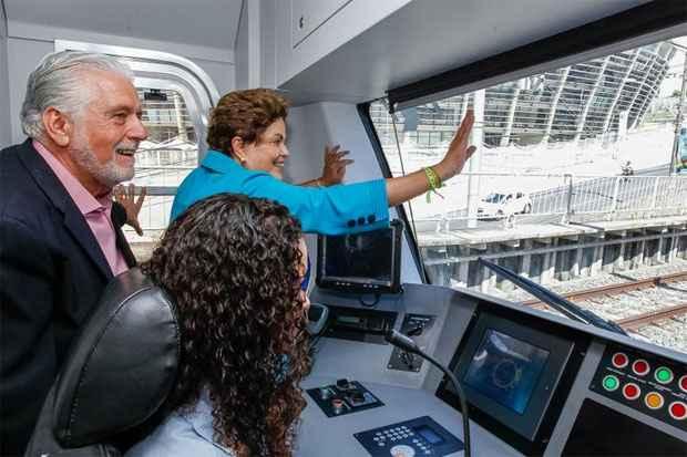 A presidente Dilma esteve nessa quarta-feira em Salvador, uma das sedes do Mundial, inaugurando trecho do metr�. Foto: Roberto Stuckert Filho/PR (Roberto Stuckert Filho/PR)