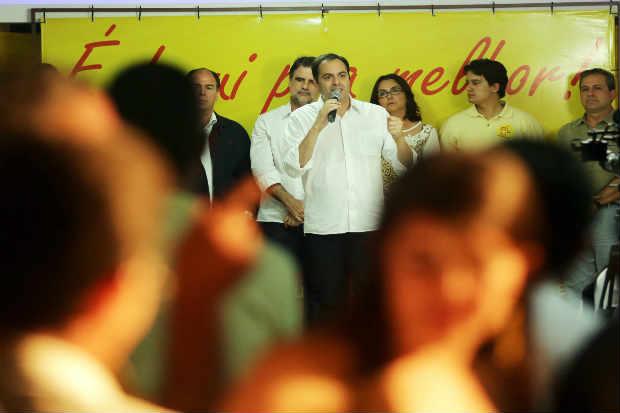 Candidatura do nome de Eduardo Campos ao governo do estado ser� homologada neste domingo (PSB/Divulga��o)