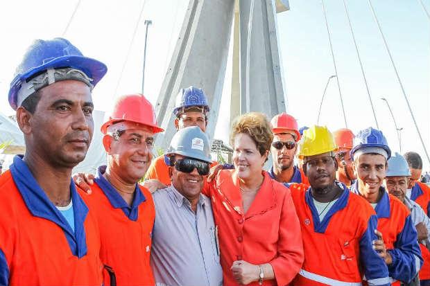 Presidente Dilma Rousseff visita Via Mangue em Recife. Foto: Roberto Stuckert Filho/PR (Roberto Stuckert Filho/PR)