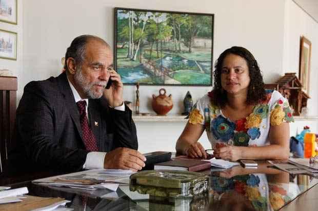 Waldemar Borges e Luciana Santos. Foto: D�bora Rosa/Esp. DP/D.A Press