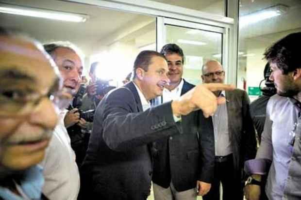 Eduardo Campos classificou aliados da petista Dilma Rousseff de 'velhas raposas' da pol�tica nacional. Foto: Alexandre Severo/PSB (Alexandre Severo/PSB)