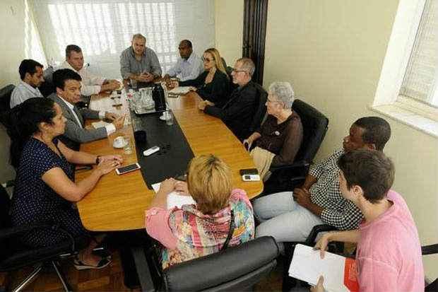 Executiva do partido se reuniu em Belo Horizonte para tentar aliviar a tens�o que se instalou na legenda em Minas. Foto: Beto Magalh�es/EM/D.A Press (Beto Magalh�es/EM/D.A Press)