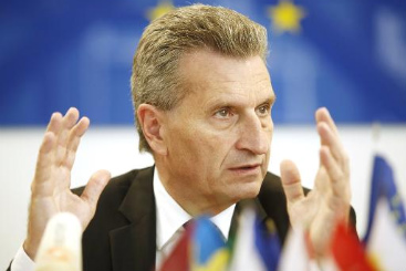 O comiss�rio europeu de Energia, German Oettinger. Foto: � AFP/DIETER NAGL (O comiss�rio europeu de Energia, German Oettinger. Foto: � AFP/DIETER NAGL)
