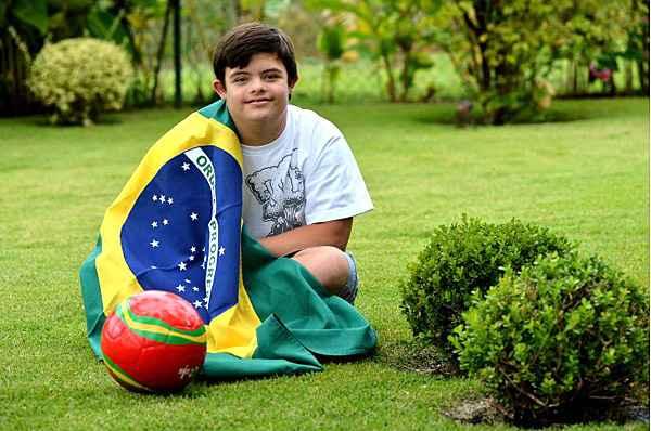 Augusto � mergulhador e faixa amarela de jud�. Foto: Marcelo Ferreira/CB/D.A. Press