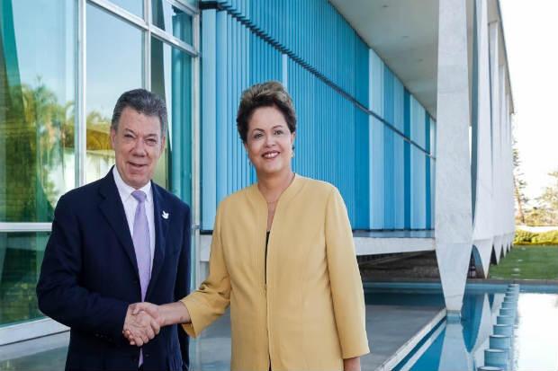 O presidente colombiano disse que o encontro com Dilma foi cordial.