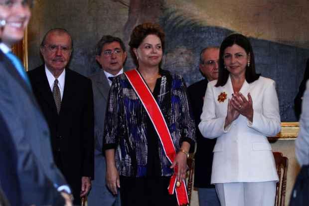 Presidente Dilma e o PT s�o aliados da fam�lia Sarney nos estados do Amap� e no Maranh�o. Foto: Gilson Brito/OIMP/D.A. Press