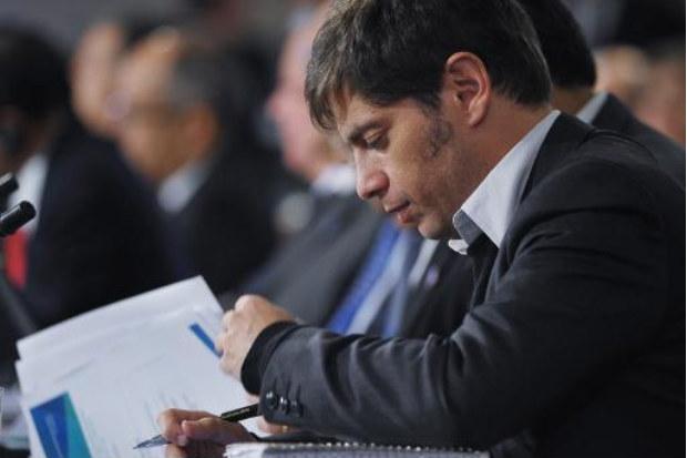 O ministro da Economia da Argentina, Axel Kicillof, durante reuni�o na sede do FMI, em Washington, em 10 de abril. Foto: � AFP/Arquivos Mandel Ngan (O ministro da Economia da Argentina, Axel Kicillof, durante reuni�o na sede do FMI, em Washington, em 10 de abril. Foto: � AFP/Arquivos Mandel Ngan)