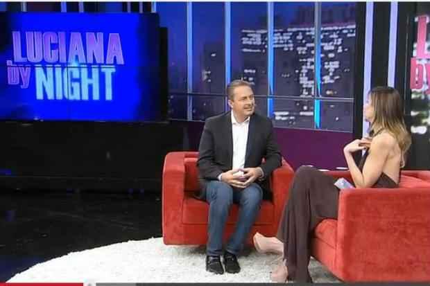 Eduardo Campos passou por alguns sufocos durante o programa Foto reprodu��o: Programa Luciana By Night (Foto reprodu��o: Programa Luciana By Night)