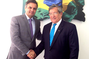 O presidente do Partido Trabalhista Brasileiro (PTB), Benito Gama, confirmou apoio ao candidato � Presid�ncia da Rep�blica A�cio Neves. Foto: PSDB