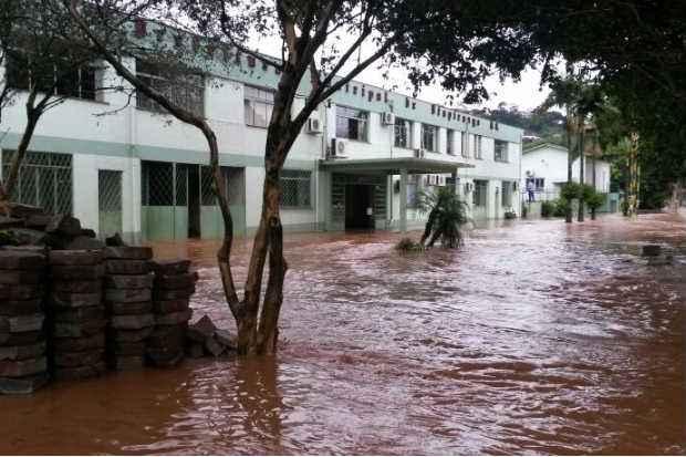 A cidade de Itapiranga (SC) foi uma das 41 atingidas pelas chuvas (Rodrigo Moratelli/ Defesa Civil de SC)