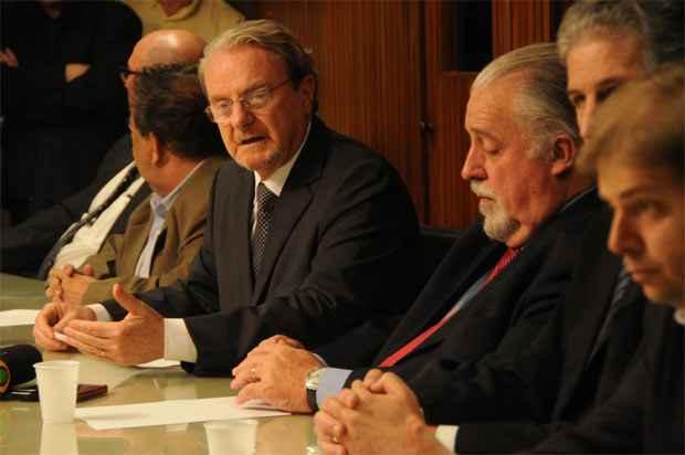 Apesar do apoio a Pimenta da Veiga, Lacerda negou rompimento com o PSB. Foto: Cristina Horta/EM/D.A. Press