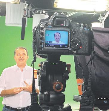 Presidenci�vel deu uma pausa na agenda para refor�ar campanha de aliado. Foto: PSB/Divulga��o