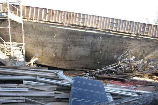 Viaduto desabou na �ltima quinta-feira (3). Cr�dito: Ed�sio Ferreira/EM/D. A Press