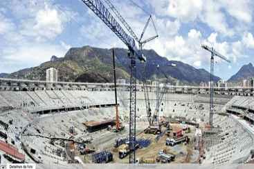 Reforma do Maracan� para o torneio: al�m das obras, o mercado negro de ingressos deve ser alvo dos trabalhos parlamentares no Senado. Foto: Arena/Divulga��o (Arena/Divulga��o)