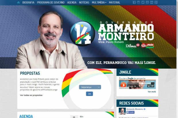 Senador candidato a governador lan�ou site e apresentou linhas gerais do programa de governo. Cr�dito: site Armando Monteiro/Divulga��o