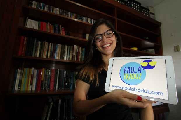 Fluente em ingl�s e espanhol, Paula percebeu que poderia explorar o mercado de tradu��es por conta do aumento da demanda dos turistas estrangeiros na Copa do Mundo. Foto: Allan Torres/DP/D.A Press
