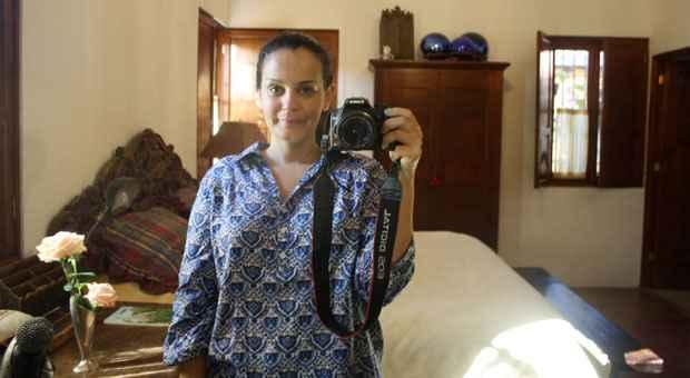 Renata �vila Yanni,supervisora de varejo, que alugou casa no per�odo da competi��o: