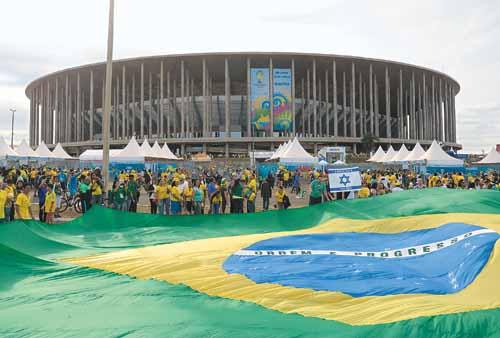O Brasil de Neymar jogou duas vezes no est�dio, uma delas com a Holanda de Robben: palco de estrelas. Foto: Ed Alves/CB/D.A. Press