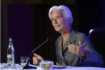 Lagarde discursa na Funda��o Robert Schuman. Foto: � AFP/MIGUEL MEDINA (Lagarde discursa na Funda��o Robert Schuman. Foto: � AFP/MIGUEL MEDINA)