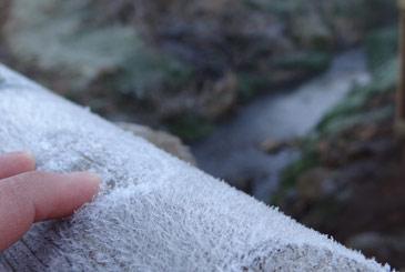 Frio na Serra Catarinense com temperaturas abaixo de zero grau. Em Urupema a m�nima aferida foi de -3.7�C. Foto: Mar�lia Oliveira/ Prefeitura de Urupema