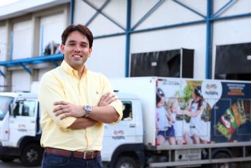 Marcelo Mayer, da Fri-Sabor, diz que a meta � chegar a mil pontos de venda at� 2016. Foto: Paulo Paiva/DP/D.A Press