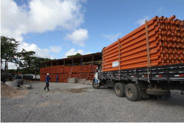 Programa Cidade Saneada fez obras que beneficiaram 200 mil pessoas no primeiro ano. Foto: Edvaldo Rodrigues/DP/D.A Press (Programa Cidade Saneada fez obras que beneficiaram 200 mil pessoas no primeiro ano. Foto: Edvaldo Rodrigues/DP/D.A Press)