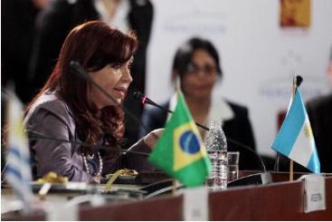 A presidente Cristina Kirchner � vista em 29 de julho de 2014, em Caracas. Foto: � AFP/LEO RAMIREZ (A presidente Cristina Kirchner � vista em 29 de julho de 2014, em Caracas. Foto: � AFP/LEO RAMIREZ)