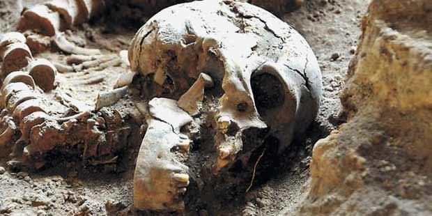 Esqueletos foram sepultados h� 10,8 mil anos na Lapa do Santo, na Grande BH. Foto: Paulo Filgueiras/EM/D.A. Press
