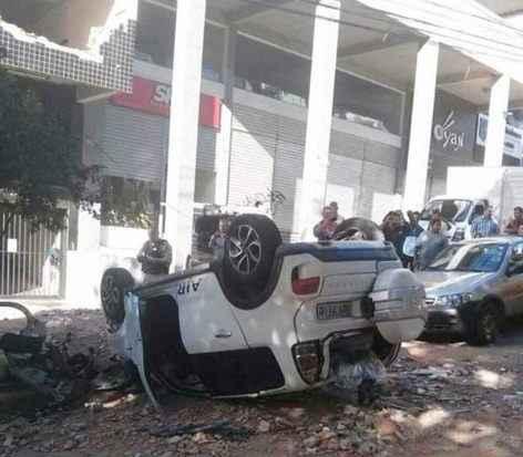 A motorista conseguiu sair sozinha do ve�culo. Foto: �der Ferreira Santos/CB/D.A Press (�der Ferreira Santos/CB/D.A Press)