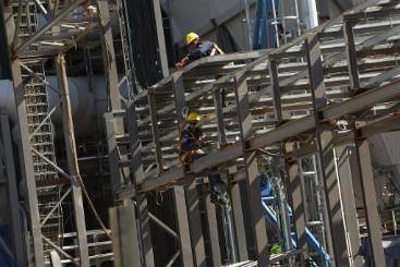 Constru��o de uma f�brica no Uruguai (arquivo). Foto: � AFP/Pablo Porciuncula (Constru��o de uma f�brica no Uruguai (arquivo). Foto: � AFP/Pablo Porciuncula)