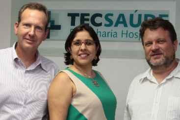Zeev Katz e S�rgio Lomachinsky tocam a Tec Sa�de, especializada em engenharia hospitalar, com Iliane Alencar. Foto: Nando Chiappetta/DP/D.A Press