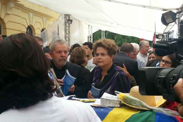 Dilma e Lula j� est�o no Pal�cio do Campo das Princesas. Foto: Larissa Rodrigues/DP/DA Press