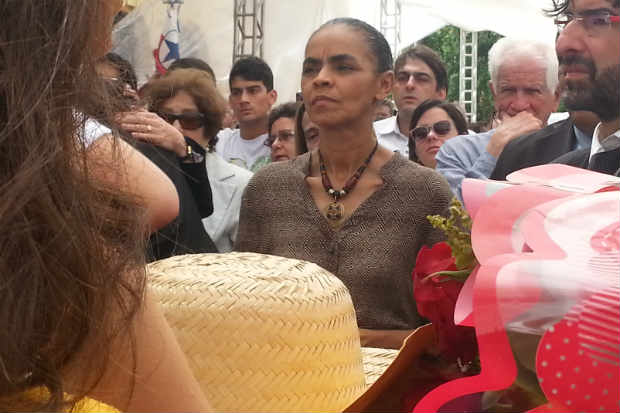 Marina Silva, vice de Eduardo, no vel�rio no Pal�cio do Campo das Princesas. Foto: Larissa Rodrigues/DP/DA Press (Foto: Larissa Rodrigues/DP/DA Press)