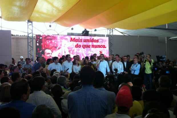 Nome de Paulo C�mara foi refor�ado por Renata Campos ao governo de Pernambuco (J�lia Schiaffarino/DP/D.A/Press)