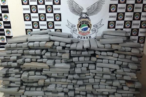 No total, 1,5 tonelada de maconha foi apreendida. Foto: Pol�cia Civil/Divulga��o