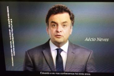 O tucano prestou sua homenagem ao socialista declarando que eles tinham uma identifica��o (Ana Luiza MAchado/Reprodu��o TV)