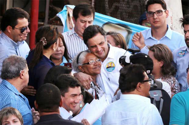 O presidenci�vel A�cio Neves defendeu pol�ticas para facilitar o escoamento da produ��o agropecu�ria. Foto: Orlando Brito/Coligacao Muda Brasil (Orlando Brito/Coligacao Muda Brasil)