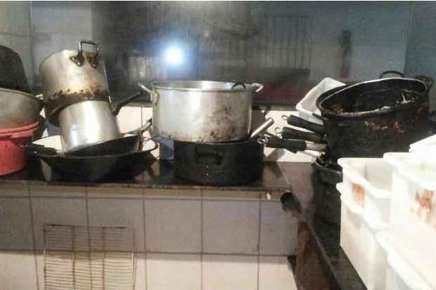 Inspe��o da Visa constatou falhas sanit�rias, como higiene prec�ria (Secretaria de Sa�de do Recife/Divulga��o )