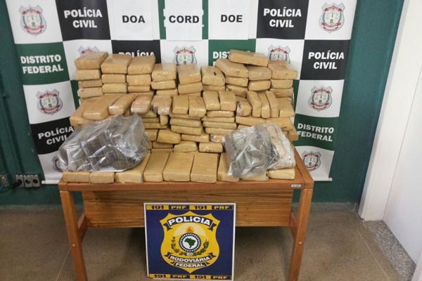 Cerca de 180 quilos de maconha foram apreendidos. Foto: Pol�cia Civil/Divulga��o