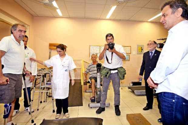 Candidato do PSDB anunciou tamb�m o Brasil Acess�vel, com a��es destinadas a pessoas com defici�ncia f�sica. Foto: Marcos Fernandes/ObritoNews  (Marcos Fernandes/ObritoNews)