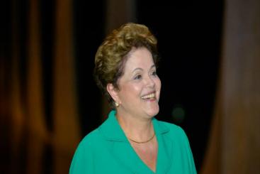 Dilma abordou o tema ap�s ter recebido dom Raymundo Damasceno, presidente da Confer�ncia Nacional dos Bispos do Brasil (CNBB), no Pal�cio do Planalto, antes de conceder a entrevista. Foto: Cadu Gomes/Dilma 13 (Cadu Gomes/Dilma 13)