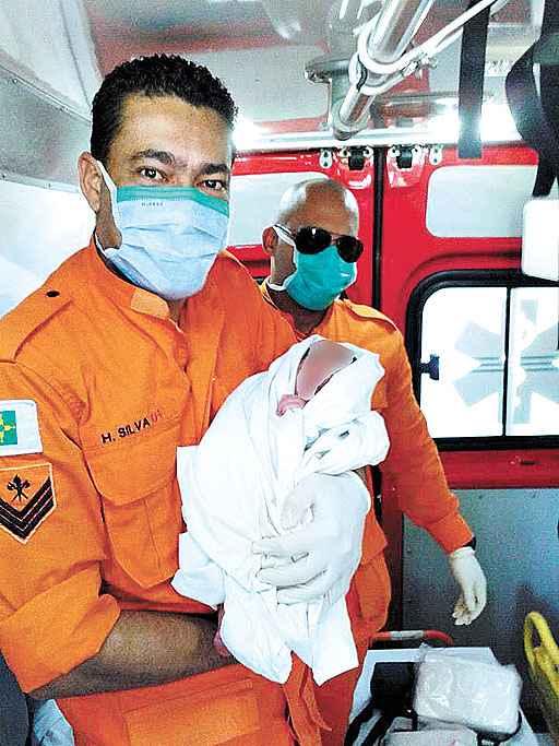 A beb� no dia em que foi encontrada na QI 3: abandono de incapaz. Foto: Divulga��o