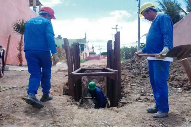 Esgotamento da cidade parte do zero e a obra prev� investimentos de R$ 80 milh�es. Foto: Compesa/Divulga��o
