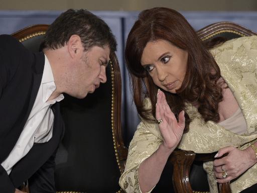 Cristina Kirchner e seu ministro da economia, Axel Kicilof, em 20 de agosto. Foto: Juan Mabromata/AFP