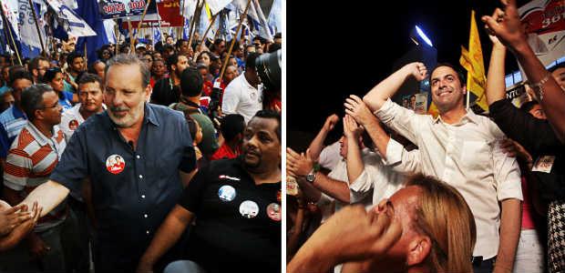 Armando e Paulo seguem atr�s dos indecisos a menos de 40 dias das elei��es. (Fotos: Rapha Oliveira/DP/D.A Press) (Rapha Oliveira/DP/D.A Press)