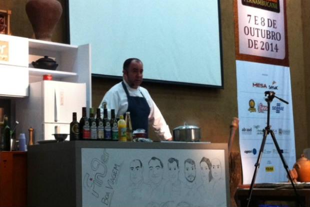 Chef também promoveu prova de azeites. Foto: Vitória Maciel/Esp. DP/D.A Press