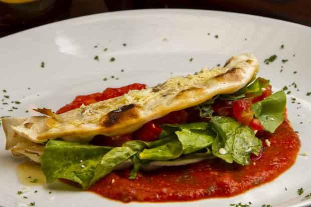 Piadina Alla Margherita, da Casa do Mar - Festival Restaurante Week. Crédito: Luciana Ourique/Divulgação