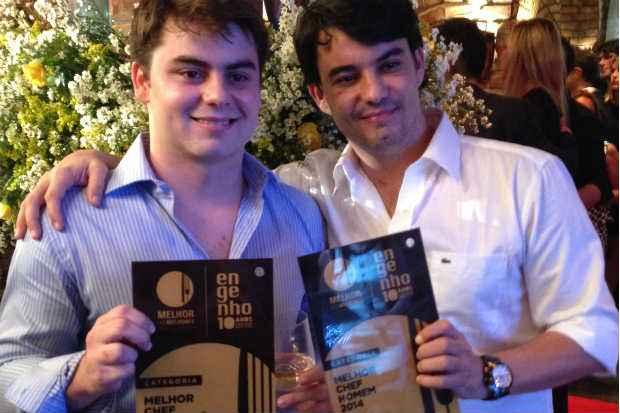 Júlio Prouvot e Hugo Prouvot: os irmãos arrebataram as categorias de Chef Revelação e Chef Homem. Fotos: Diogo Carvalho/DP/D. A Press