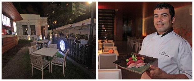 Área ao ar livre é uma boa opção para o happy hour. Chef Edson Leite aposta na inovação . Foto: Roberto Ramos/DP/D. A Press