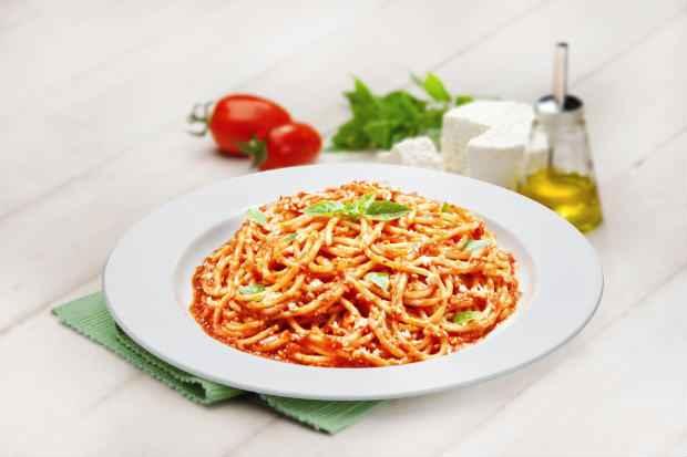 Espaguete Caprese no Spoleto. Foto: Spoleto/Divulgação